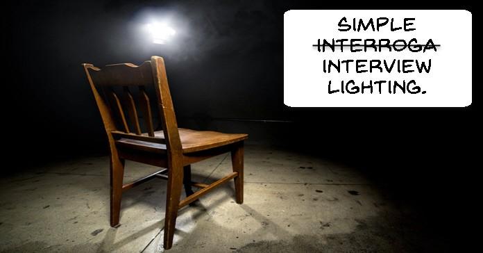 Simple lighting setup for interviews.