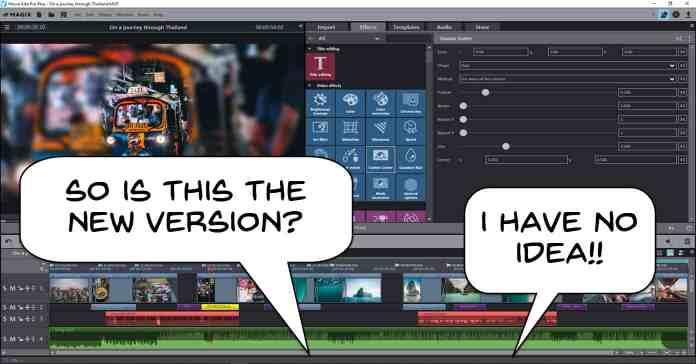 User interface of Magix Movie Edit Pro.