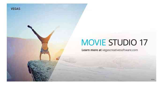 Image of Vegas Movie Studio 17 update box