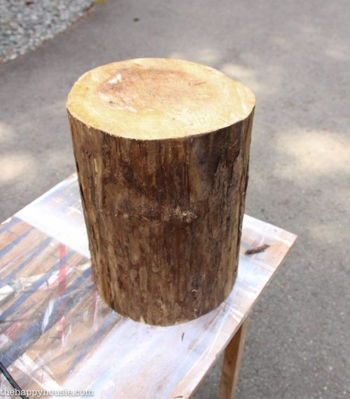 Side Table; DIY a Rolling Stump Side Table