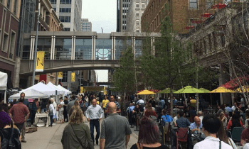 Nicolett Market tents in Downtown Minneapolis