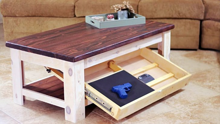 Secret Drawer Turns Rustic Coffee Table Into Genius Storage Solution Diy Ways