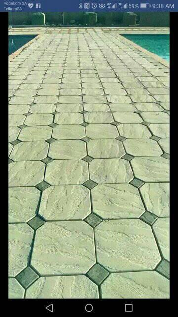 Container paving mould Octagon