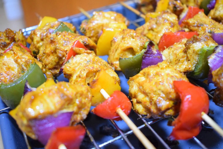 Garam Masala Chicken Skewers