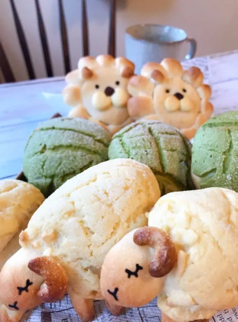 Cute Japanese bread characters