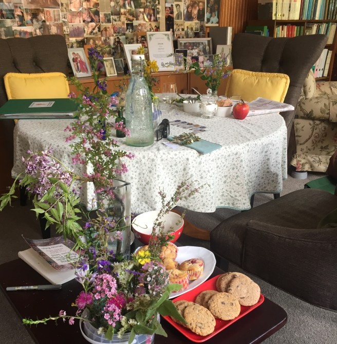 Muffins, native plants, cookies, afternoon tea, table | See more at www.diywoman.net