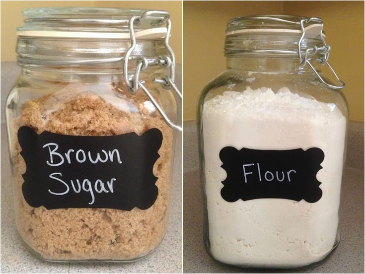 DIY Labeled Kitchen Canisters
