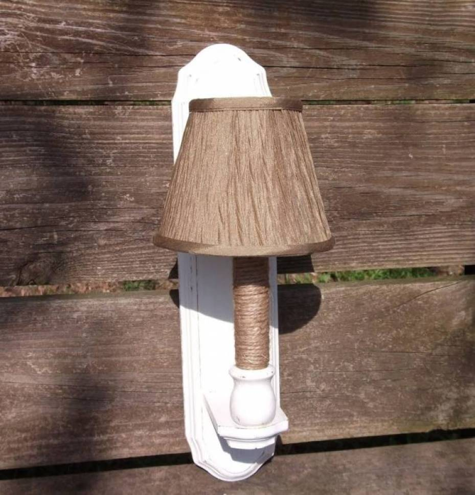 A Lighted Sconce