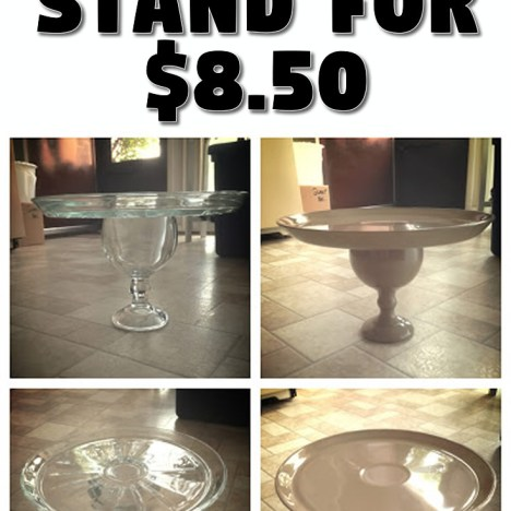 DIY Cake Stand for $8.50