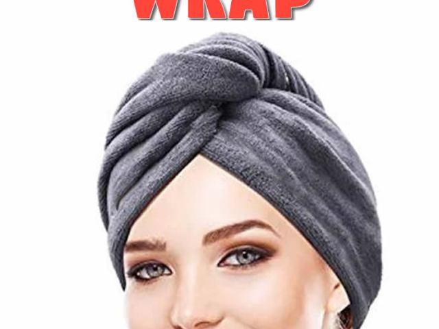 DIY Twisted Towel Hair Wrap