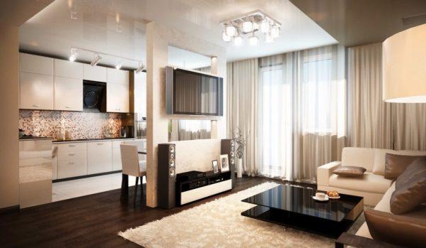 Дизайн интерьера кухни студии. Фото примеров в разных стилях