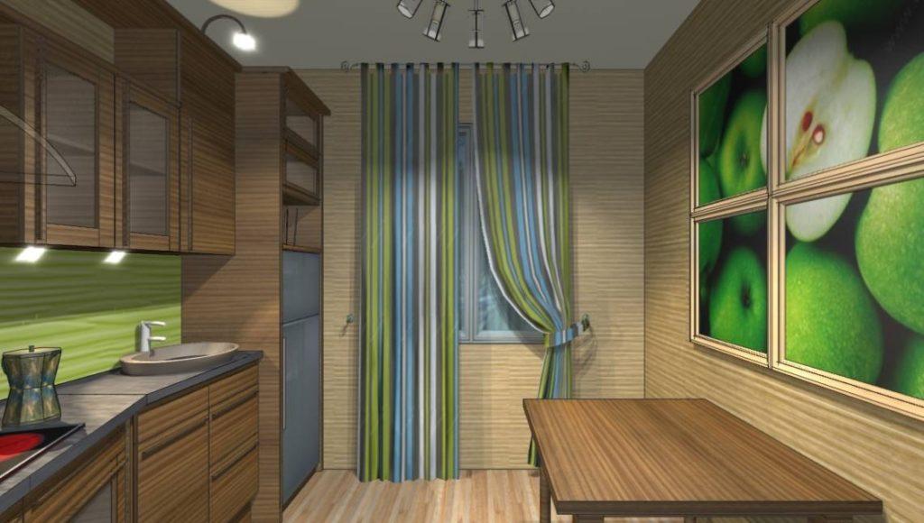 маленькая кухня дизайн 9 квм 6
