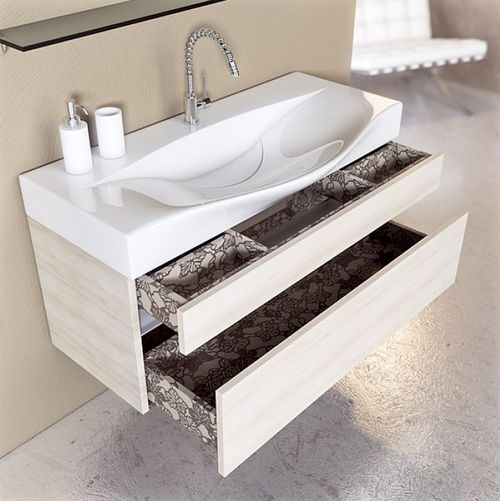 Умывальники для ванной комнаты с тумбой и зеркалом