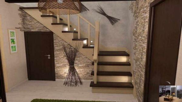 Варианты оформление лестничного проема в частном доме - 75 ...