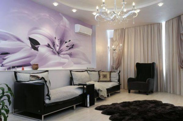 Фотообои в гостиную - 90 фото вариантов красивого дизайна