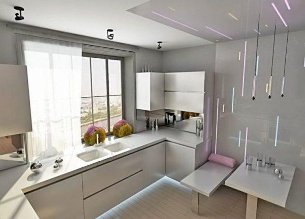 Кухня 9 кв. м. - выбор стиля и планировка дизайна (135 ...