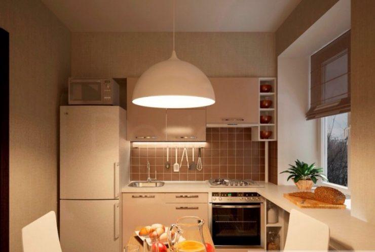 кухня 5 метров дизайн фото в реальной квартире 1