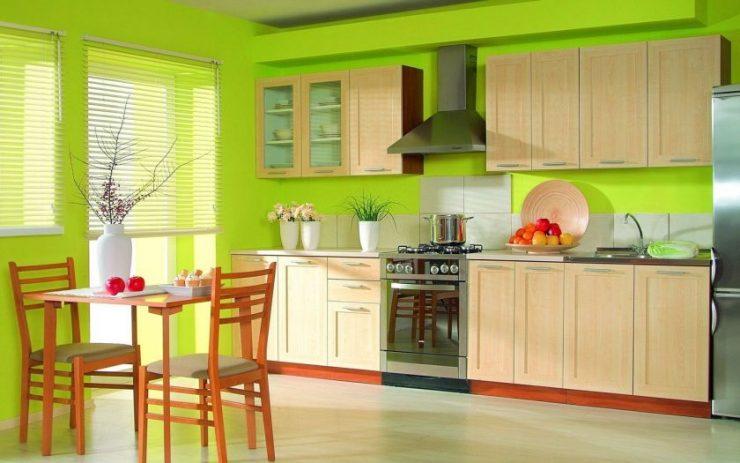 кухня в зеленых тонах дизайн фото 1