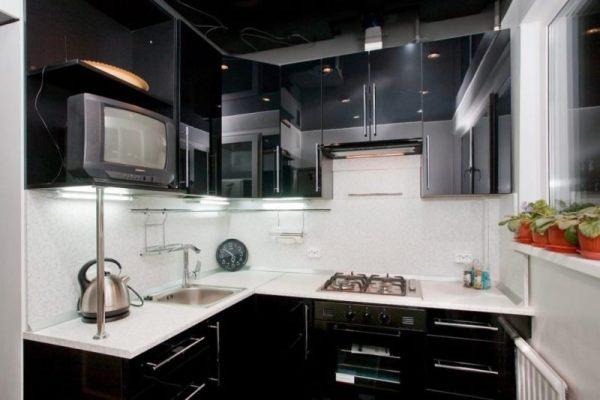 Интерьер кухни 6 кв м - 100 фото красивого дизайна ...