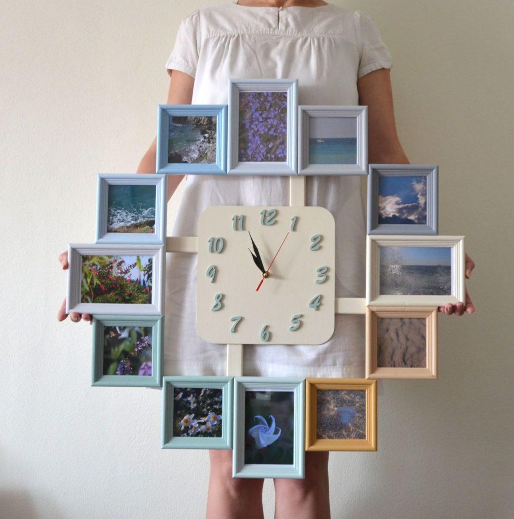 обычных как сделать часы своими руками фото интерьера