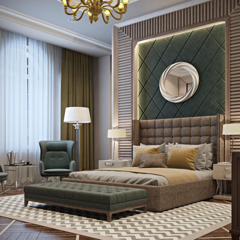 красивые спальни дизайн фото в доме частном 3