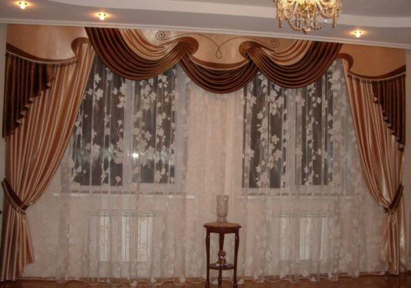 Занавесы в зал в современном стиле. Гардины и шторы для ...