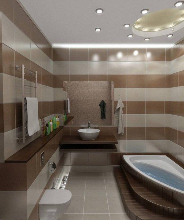 Дизайн интерьера ванной 4 кв. м. - 100 фото лучших идей по ...