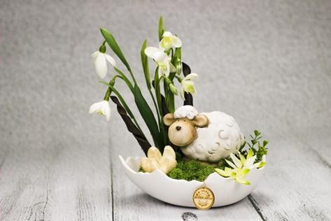Dekorácie v škrupine veľkonočného vajíčka