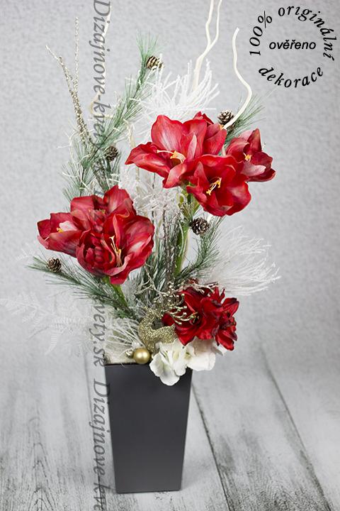 Kvetinový luxus s modernými kvetmi Vianoc