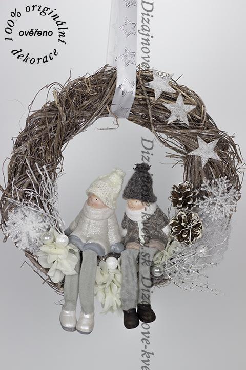 Moderné závesný vianočný veniec na dvere