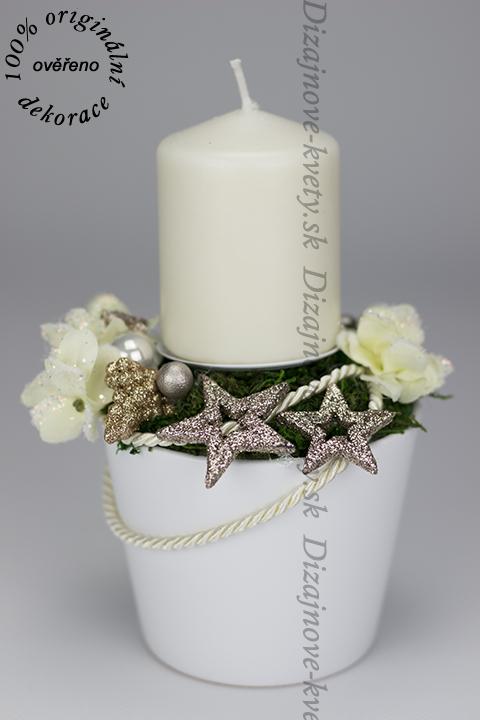 Svietnik na štedrovečerný stôl vianočné hviezda