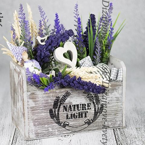 Provance dekorácie kvetináč s levanduľou