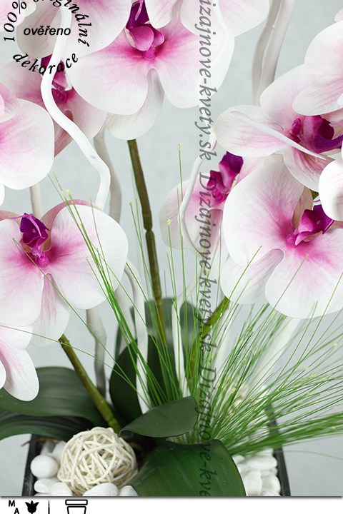 Luxusná dekorácia orchidea