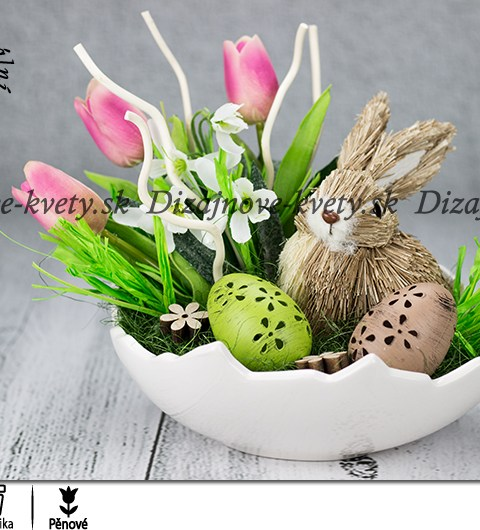 Veľkonočný dekoračný zajačik v škrupine ako dekorácia