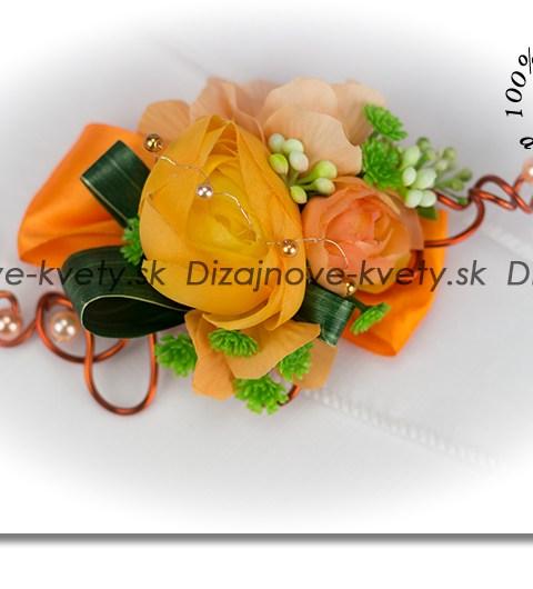 Korsáž pre ženícha s ruží a pivóniou
