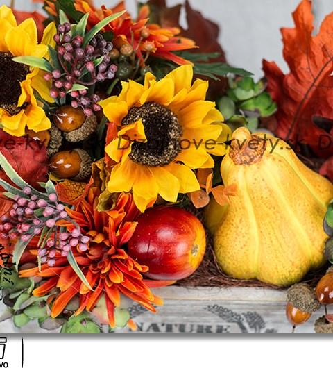 jesenné dekorácie, tekvica, bytové aranžmá
