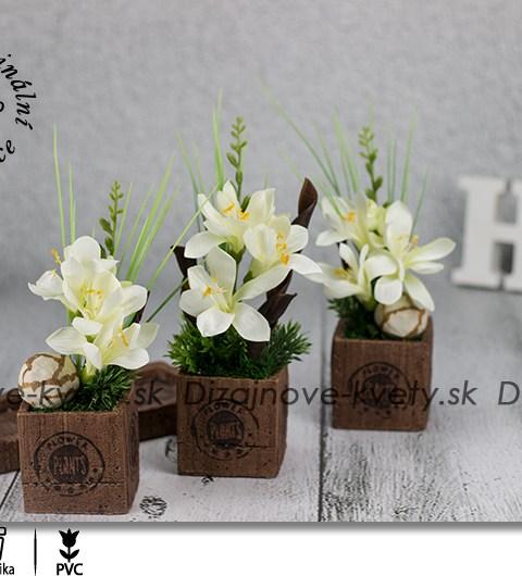 bytová dekorácia, frézie, keramika, kvety