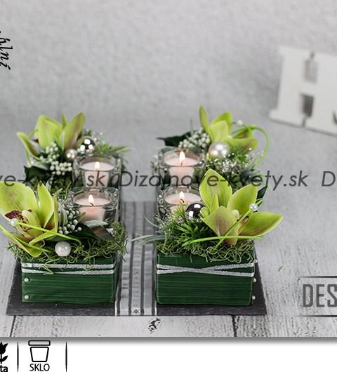 adventný svietnik, vianočné dekorácie, orchidea, sklenený svietnik, darček