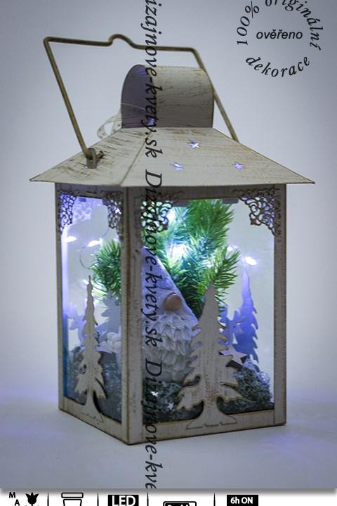 lucerna, ľad osvetlenie, vianočné dekorácie, darček deti, vianočné škriatok
