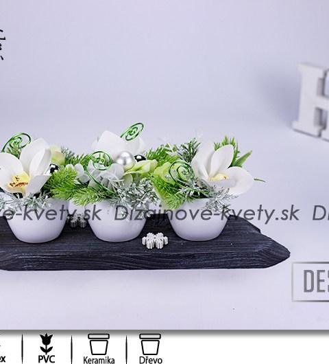 vianočné dekorácie, kvety na stôl, dizajnová dekorácie, orchidea