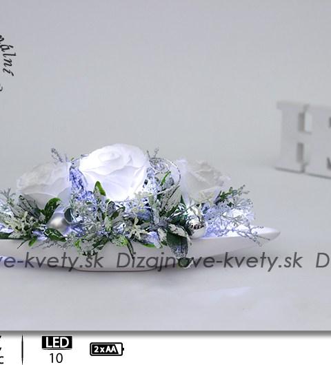 biele ruže, dekorácie na stôl, kvetinová dekorácia na stôl