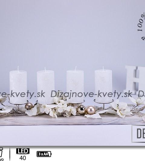 adventné svietniky, svietniky na stôl, dizajnové svietniky, LED osvetlené dekorácie, LED svetlá