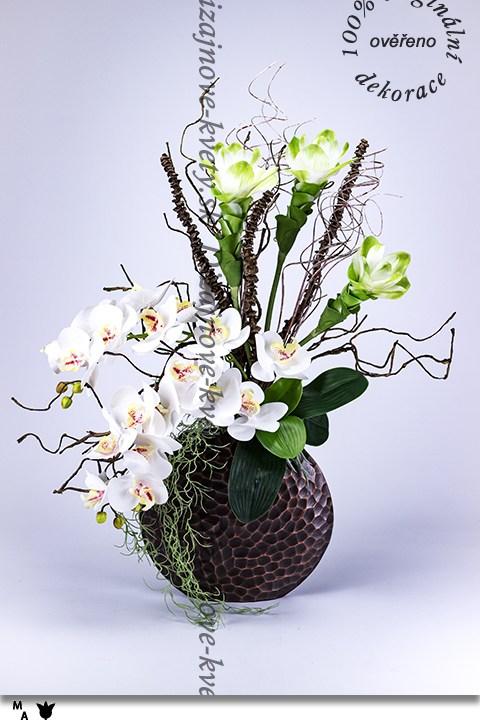 bytový dizajn, orchidea, exotická curcuma, kvetinová dekorácia