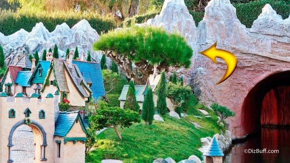 Mugo pine Disneyland's oldest tree in StoryBook Land Anaheim California