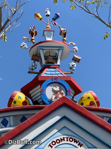 City Hall roof ornament or spire at Mickeys Toontown Disneyland