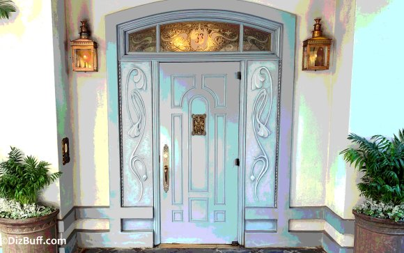 New entrance door to Disneyland Club 33 located in New Orleans Square