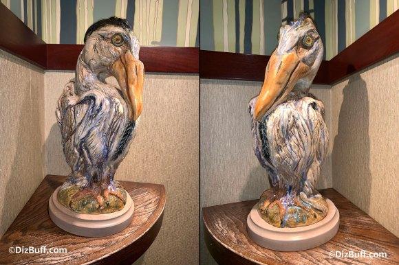 Grotesque Bird Rand the Blue Heron in Disneyland Grand Californian Hotel