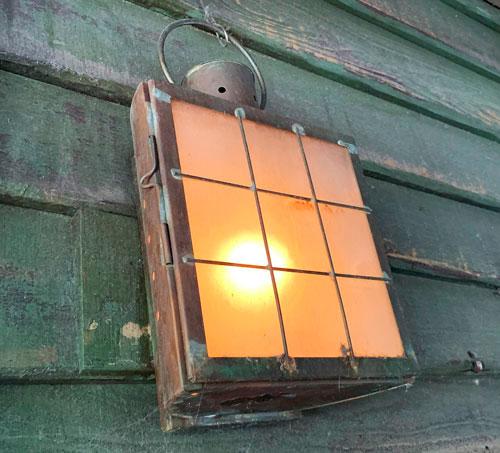 Wall mounted Light fixture on Jungle Cruise attraction in Adventureland Disneyland