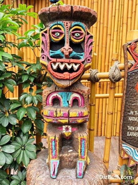 Disney's Enchanted Tiki Room god Koro in pre show