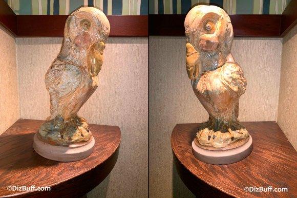 Grotesque Bird Lady the Dove in Disneyland Grand Californian Hotel